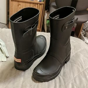 Dark Grey Short Hunter boots US sz 9